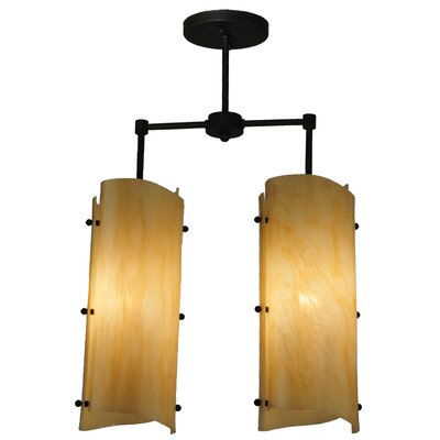 Greenbriar Oak 2-Light Island Pendant
