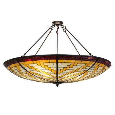 Basket Weave 6-Light Inverted Pendant