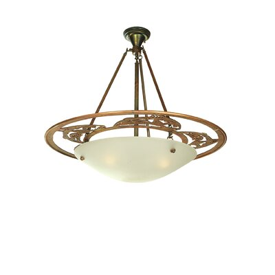 Leaping Trout 3-Light Semi-Flush Mount