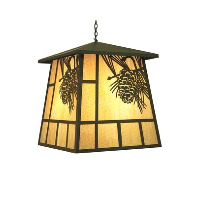 Stillwater Winter Pine 4-Light Lantern Pendant