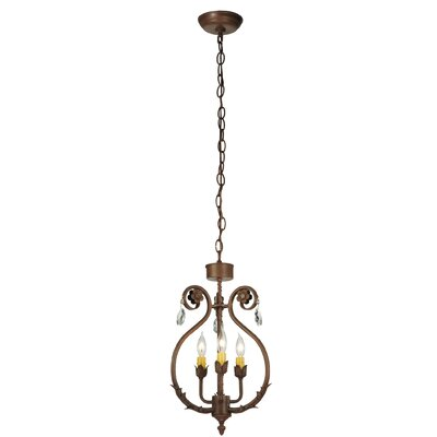 Antonia 3-Light Candle-Style Chandelier