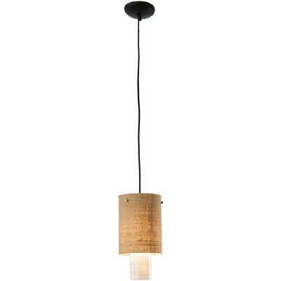 Cilindro Burlap 1-Light Mini Pendant