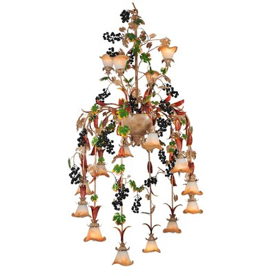 Symphony Grape 16-Light Shaded Chandelier