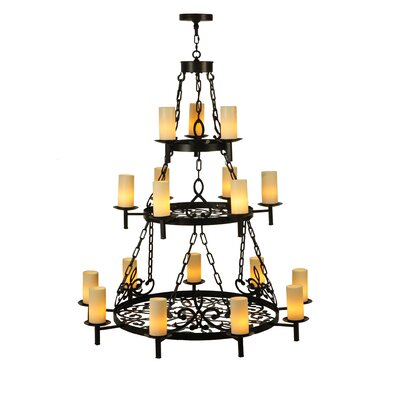 Newcastle Three Tier 18-Light Candle-Style Chandelier