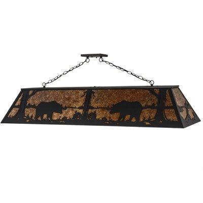 Bear at Lake 9-Light Pendant