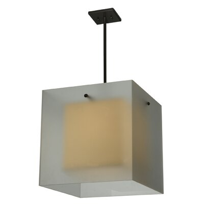 Quadrato Shadow Box 1-Light Geometric Pendant