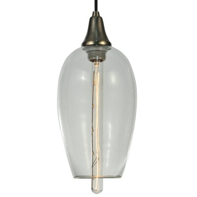 Metro Fusion Orb Mouth Blown 1-Light Mini Pendant