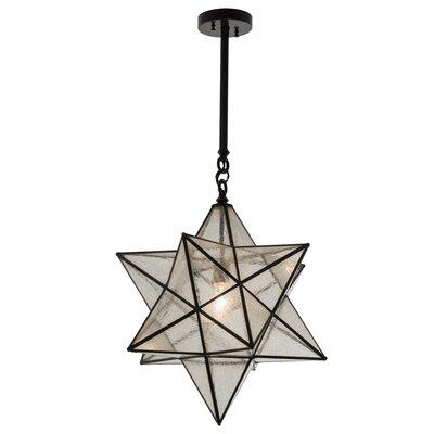 Azalea Star 1-Light Geometric Pendant