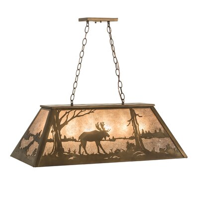 Moose at Lake 6-Light Pendant