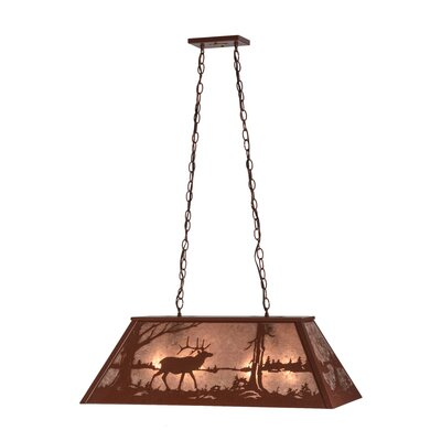 Elk at Lake 6-Light Billiard Light Size: 19 -43.5 H x 33 W x 17 D