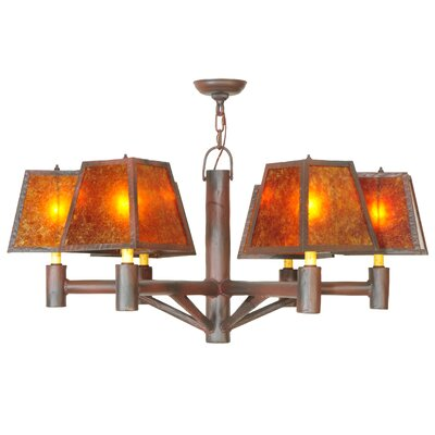 Greenbriar Oak Rocky Mountain 6-Light Shaded Chandelier