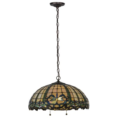 Dragonfly Trellis 4-Light Bowl Pendant