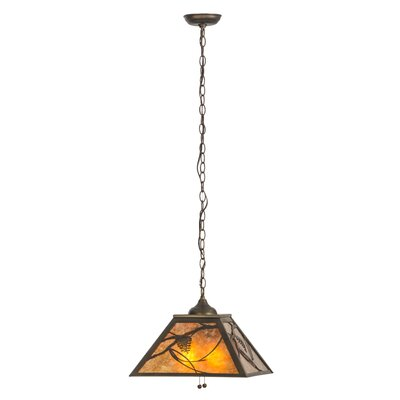 Whispering Pines 2-Light Pendant Finish: Antique Copper, Shade Color: Amber