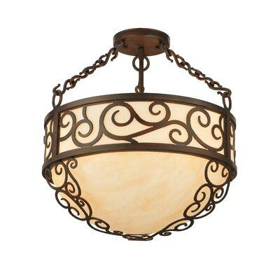 Lilliana 4-Light Inverted Pendant Size: 18 H x 16 W x 16 D