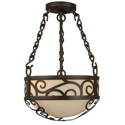 Lilliana 4-Light Inverted Pendant Size: 18 H x 12 W x 12 D