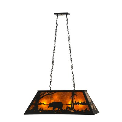 Bear at Lake 9-Light Pendant Size: 24 - 44.5 H x 33 W x 17 D