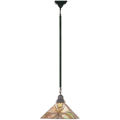 Mission 1-Light Bungalow Pendant Size: 48 H x 13 W x 13 D