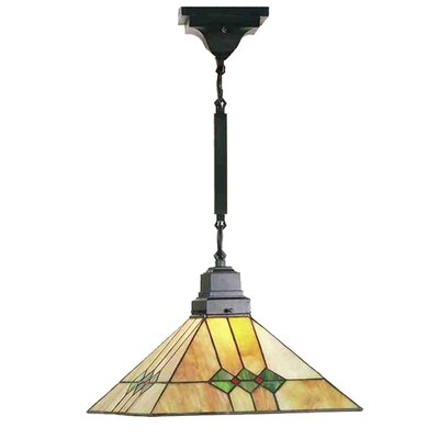 Mission 1-Light Pendant Size: 24