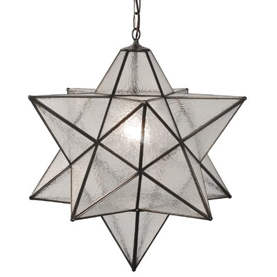 Moravian Star 1-Light Mini Pendant Shade Color: Seedy