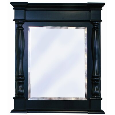"Chess 27.4"" x 32"" Vanity Mirror Finish: Black"