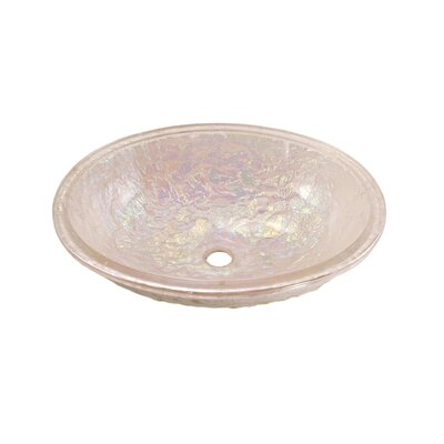 Glass Circular Undermount Bathroom Sink with Overflow Sink Finish: Pearl