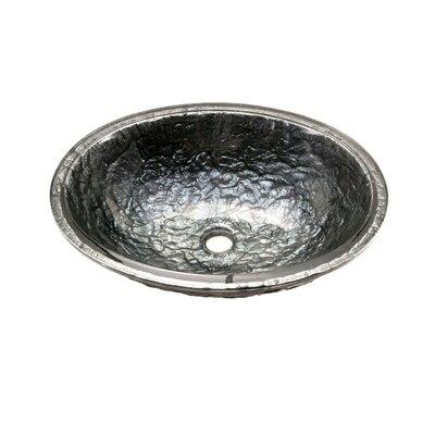 Glass Circular Undermount Bathroom Sink with Overflow Sink Finish: Steel Gray