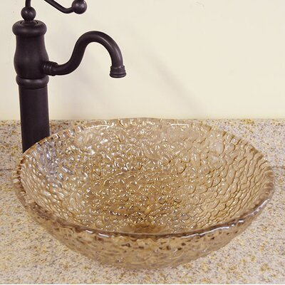 Pebble Circular Vessel Bathroom Sink Sink Finish: Fawn
