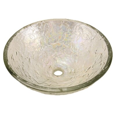 Glass Circular Vessel Bathroom Sink Sink Finish: Crystal Reflections