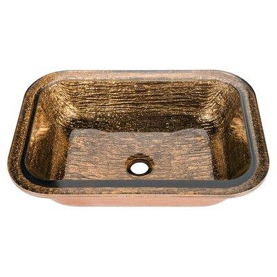 Oasis Glass Rectangular Undermount Bathroom Sink Sink Finish: Cobalt Copper