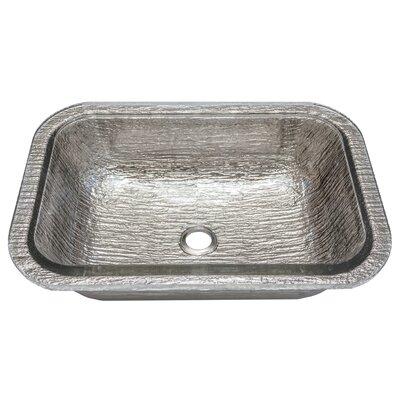 Oasis Glass Rectangular Undermount Bathroom Sink Sink Finish: Platinum
