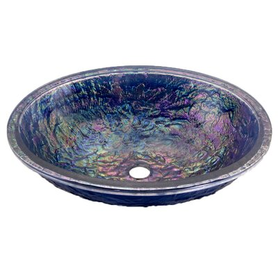 Oval Undermount Bathroom Sink Sink Finish: Slate Blue  Reflections