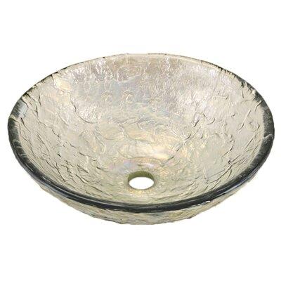 Glass Circular Vessel Bathroom Sink Sink Finish: Crystal Reflections