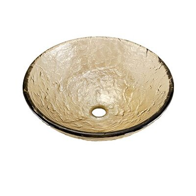 Circular Vessel Bathroom Sink Sink Finish: Sea Green