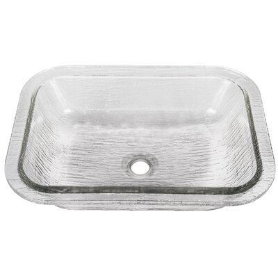 Oasis Glass Rectangular Undermount Bathroom Sink Sink Finish: Crystal