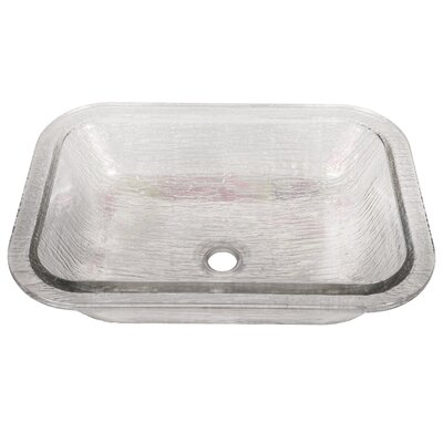 Oasis Glass Rectangular Undermount Bathroom Sink Sink Finish: Crystal Reflections