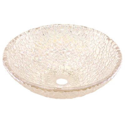 Pebble Circular Vessel Bathroom Sink Sink Finish: Crystal Reflections