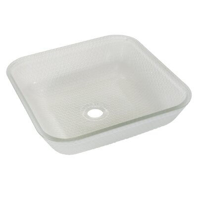 Cubix Glass Square Vessel Bathroom Sink Sink Finish: Frost
