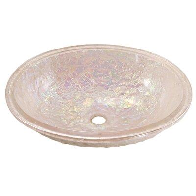 Glass Oval Undermount Bathroom Sink Sink Finish: Pearl