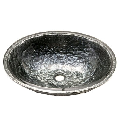 Glass Oval Undermount Bathroom Sink Sink Finish: Steel Gray