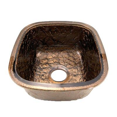 16.5 x 18.13 Undermount Kitchen Sink Finish: Cobalt Copper
