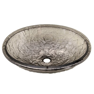 Glass Oval Undermount Bathroom Sink Sink Finish: Black Nickel