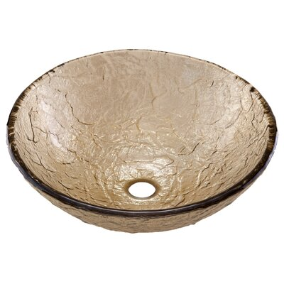Circular Vessel Bathroom Sink Sink Finish: Fawn