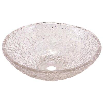Pebble Circular Vessel Bathroom Sink Sink Finish: Crystal