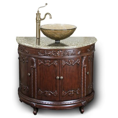 Semi-Circle Vessel  Sink Vanity
