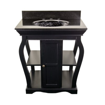 Vineta Bathroom Vanity Set Vanity Finish: Black