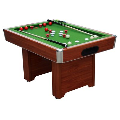 "Hartford 3/4"" Slate Bed Bumper 4' Pool Table Finish: Cherry HARTFORD CHERRY SLATE"