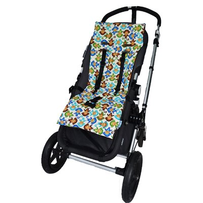 Tivoli Couture Plush Reversible Stroller Liner - Pattern: Silly Monkeys - blie at Sears.com