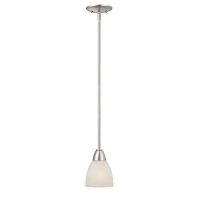 Jefferson 1-Light Mini Pendant Finish: Brushed Nickel