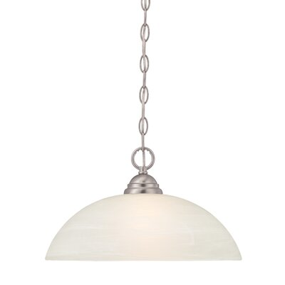 Eichelberger 1-Light Frosted Shade Mini Pendant Finish: Satin Platinum