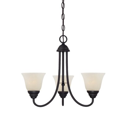 Eichelberger 3-Light Shaded Chandelier Finish: Oil Rubbed Bronze
